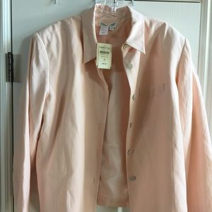 NWT Coldwater Creek silk jacket.